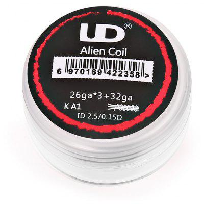 Original UD 0.15 ohm Prebuilt Alien Coil for E Cigarette ( 10pcs / Box )