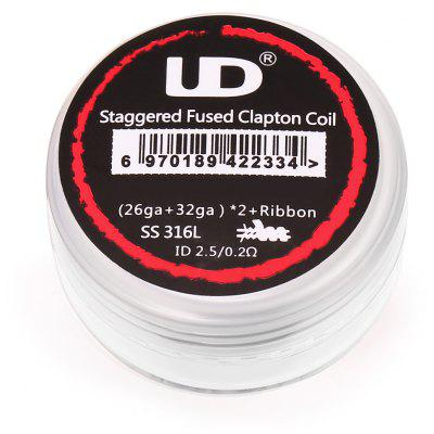Original UD 0.2 ohm Staggered Fused Clapton Coil ( 10pcs / Box )