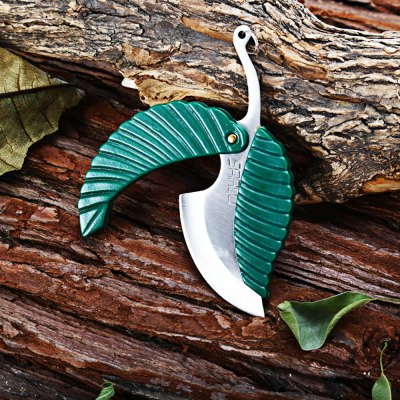 Leaf Shape Survival Pocket Knife
