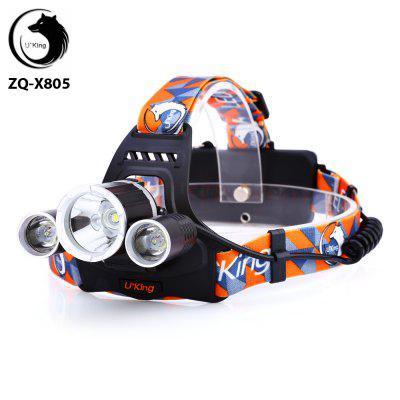 UKing ZQ - X805 3 x Cree XML T6 3600Lm Rechargeable LED Headlamp Power Indicator