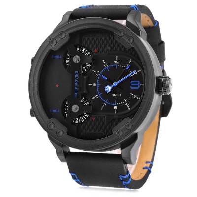 WEIDE 1506 Men Black Case Sports Quartz Watch