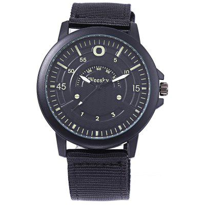 Weesky 6019 Casual Men Multiple Scales Quartz WatchMens Watches<br>Weesky 6019 Casual Men Multiple Scales Quartz Watch<br><br>Available Color: Army green,Black<br>Band material: Canvas<br>Band size: 25.5 x 2.2 cm / 10.04 x 0.87 inches<br>Brand: Weesky<br>Case material: ABS<br>Clasp type: Pin buckle<br>Dial size: 4.3 x 4.3 x 1 cm / 1.69 x 1.69 x 0.39 inches<br>Display type: Analog<br>Movement type: Quartz watch<br>Package Contents: 1 x Weesky 6019 Casual Men Quartz Watch<br>Package size (L x W x H): 26.50 x 5.30 x 2.00 cm / 10.43 x 2.09 x 0.79 inches<br>Package weight: 0.090 kg<br>Product size (L x W x H): 25.50 x 4.30 x 1.00 cm / 10.04 x 1.69 x 0.39 inches<br>Product weight: 0.044 kg<br>Shape of the dial: Round<br>Watch style: Casual<br>Watches categories: Male table<br>Water resistance: Life water resistant<br>Wearable length: 18.5 - 23.2 cm / 7.28 - 9.13 inches