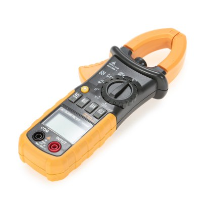 MS2008A Digital AC Clamp MeterMultimeters &amp; Fitting<br>MS2008A Digital AC Clamp Meter<br><br>AC Current: 2A / 20A / 200A / 600A<br>AC Voltage: 2V / 20V / 200V / 600V<br>Auto power off: Yes<br>Backlit Display: Yes<br>Data Hold: Yes<br>DC Voltage: 200mV / 2V / 20V / 200V / 600V<br>Input Impedance: 10Mohm<br>Low Battery Indicator: Yes<br>Model: MS2008A<br>Package Contents: 1 x Clamp Meter ( with Battery ), 1 x Pouch, 1 x Pair of Test Probe, 1 x English User Manual<br>Package size (L x W x H): 23.20 x 11.30 x 5.80 cm / 9.13 x 4.45 x 2.28 inches<br>Package weight: 0.3900 kg<br>Powered by: 3 x AAA Battery<br>Product size (L x W x H): 21.00 x 7.80 x 3.00 cm / 8.27 x 3.07 x 1.18 inches<br>Product weight: 0.2370 kg<br>Resistance: 200ohm / 2Kohm / 20Kohm / 200Kohm / 2Mohm / 20Mohm