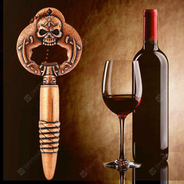 BROWN Multifunctional Skull Wine Beer Corkscrew Opener