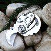 5Cr13Mov Stainless Steel Mini Knife Pocket Blade - SILVER