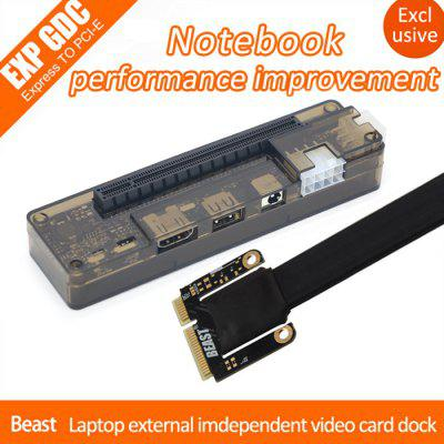 EXP GDC Beast Placa de Vídeo Externa para Laptop Card Dock + Mini Cabo PCI-E para Apple / DELL / HP / Lenovo / Asus / Hasee