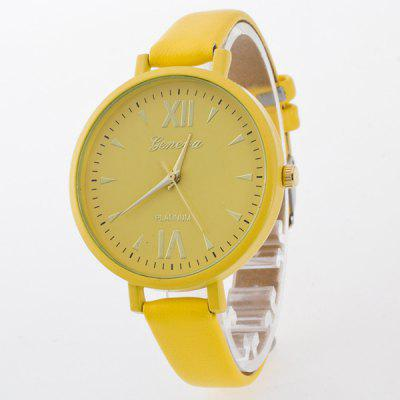 Roman Numerals Geometric Quartz Watch