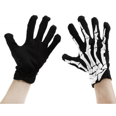 Paired Creative Bone Pattern Halloween Gloves Festival Product