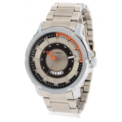 CURREN 8229 Business Contrast Color Dial Men Quartz Watch