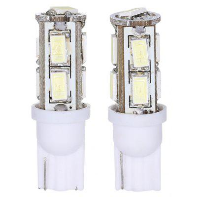 2 PCS T10 9 SMD 5630 LED Car Lamp 12V 8W 6000K 100LM