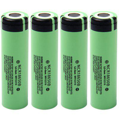 4x Panasonic NCR18650B Battery