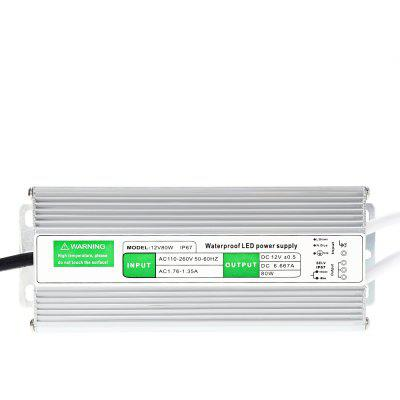 12V80W IP67 Waterproof LED Power Supply
