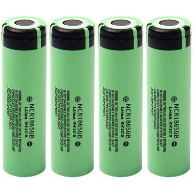 4pcs NCR18650B 3.7V 3400mAh 18650 Rechargeable Li- ion Battery