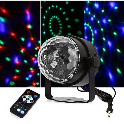UKing ZQ - B12 6W RGB Crystal Ball Light DJ Disco Stage Lighting