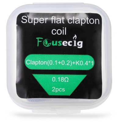 Original Focusecig 0.18 ohm Super Flat Clapton Coil ( 2pcs / Box )