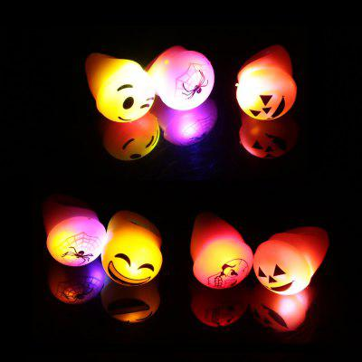 8 x BRELONG Flashing LED Finger Ring Halloween Christmas Party