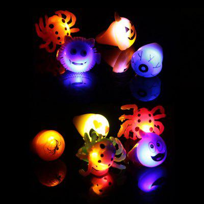 10 x BRELONG Glowing LED Finger Ring for Halloween Christmas