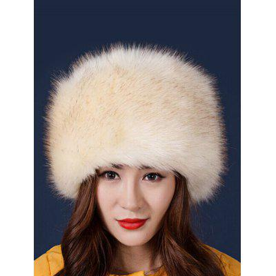 Winter Pill Box Plush Faux Fur Hat Cap