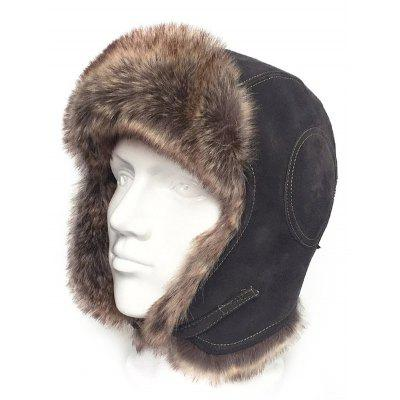 Aviator Cap Hat with Faux Fur Trim