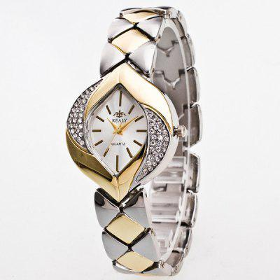 Vintage Rhinestone Moon Leaf Quartz Watch