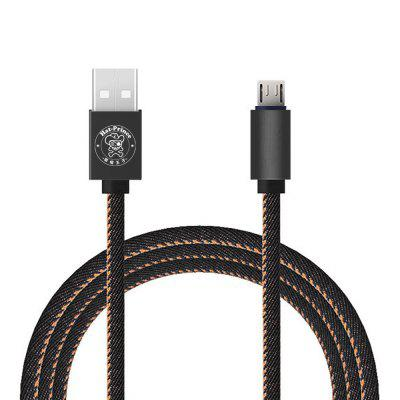 Hat - Prince 1m 2.4A Micro USB Data Sync Charging Cable