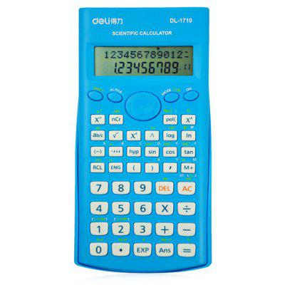 Buy Deli 1710 Scientific Calculator with Textbook Display BLUE for $8.12 in GearBest store