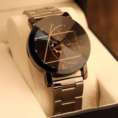 Gear Geometric Steel Band kuarc Watch