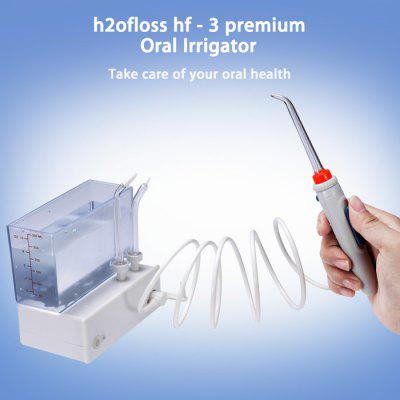 h2ofloss hf - 3 premium Oral Irrigator for Home TravelTooth Care<br>h2ofloss hf - 3 premium Oral Irrigator for Home Travel<br><br>Brand: h2ofloss<br>Color: White<br>Model: hf - 3 premium<br>Package Contents: 1 x Host, 1 x Water Tank, 4 x Jet, 1 x Tongue Cleaner, 1 x Charger, 1 x Bag, 1 x English User Manual<br>Package size (L x W x H): 18.80 x 14.70 x 6.50 cm / 7.4 x 5.79 x 2.56 inches<br>Package weight: 0.7120 kg<br>Product size (L x W x H): 2.00 x 2.00 x 9.50 cm / 0.79 x 0.79 x 3.74 inches