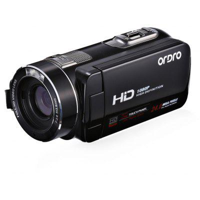 Buy BLACK ORDRO HDV Z8 PLUS 24MP 16X Digital Zoom DV Camera for $106.26 in GearBest store