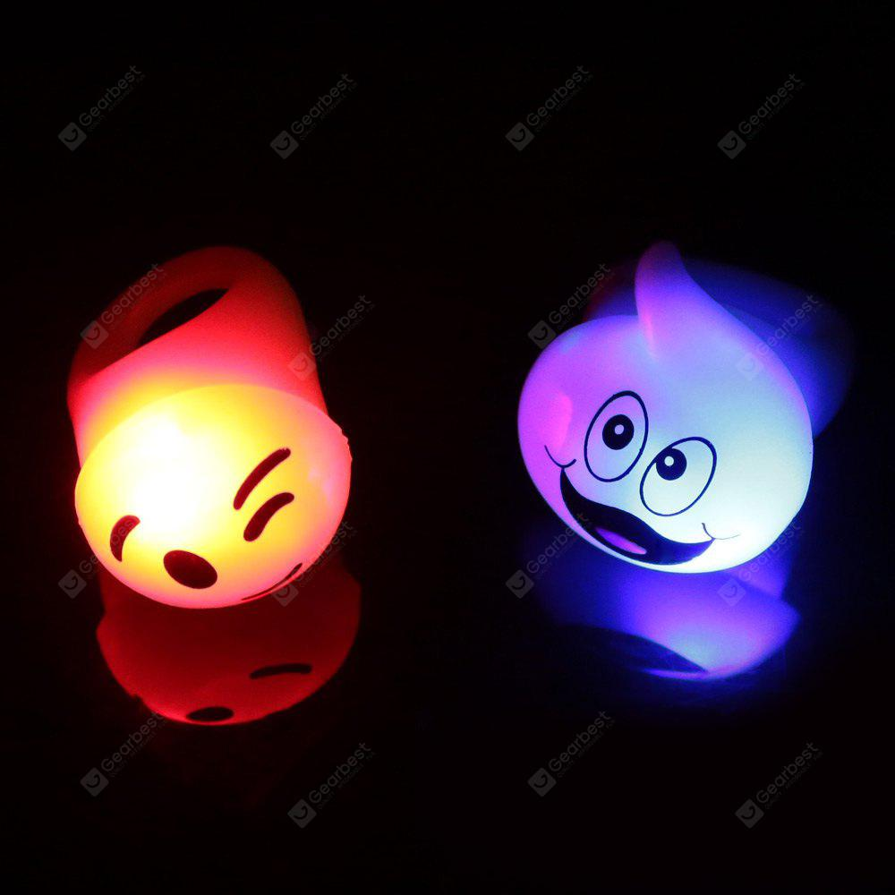 2pcs BRELONG Glowing LED Finger Ring for Halloween Christmas