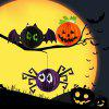 3 x BRELONG Halloween Papier Laterne - COLORMIX