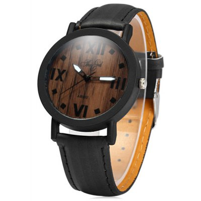 A8902 Unisex Quartz Watch Unique Wood Grain Wristwatch