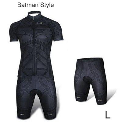 Elastic Men Breathable Short Sleeved Cycling Jersey and Pants Set with YKK Zipper Size XXS  -  4XL