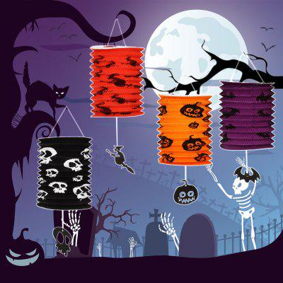 4 x BRELONG LED Halloween Organ Paper Lantern