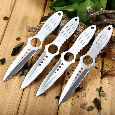 4pcs 4Cr13Mov Stainless Steel Fixed Blade Knife with Bag