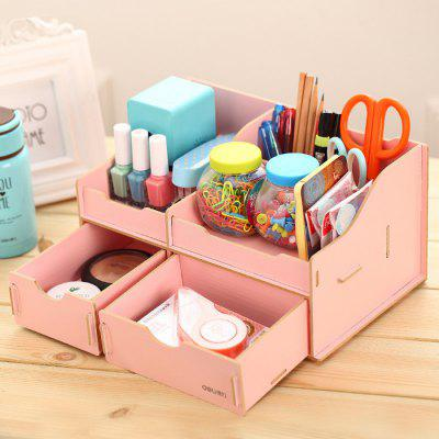 Deli Practical Wooden DIY Storage Box