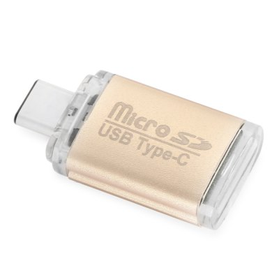 668 USB 3.1 Type-C Card ReaderMemory Cards<br>668 USB 3.1 Type-C Card Reader<br><br>Interface: USB 3.1 Type-C<br>Maximum Memory Supported: 32GB<br>Package Contents: 1 x 668 USB 3.1 Type-C Card Reader<br>Package size (L x W x H): 12.60 x 7.00 x 1.30 cm / 4.96 x 2.76 x 0.51 inches<br>Package weight: 0.035 kg<br>Product weight: 0.006 kg<br>Reader Type: USB Flash Drive<br>Supported Memory Cards: TF<br>Type: Card Reader