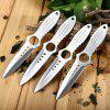 4pcs 4Cr13Mov Stainless Steel Fixed Blade Knife with Bag - SILVER
