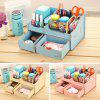 Deli Practical Wooden DIY Storage Box - AZURE