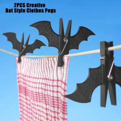2PCS Creative Bat Style Clothes Pegs
