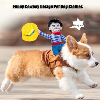 Funny Cowboy Design Pet Dog Clothes