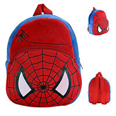 Cartoon Figure Design Stuffed Zipper Schoolbag