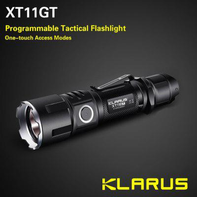 Buy BLACK Klarus XT11GT Tactical LED Flashlight for $89.95 in GearBest store