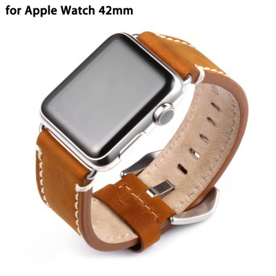 Crazy Horse Leather Watchband for Apple Watch 42mm
