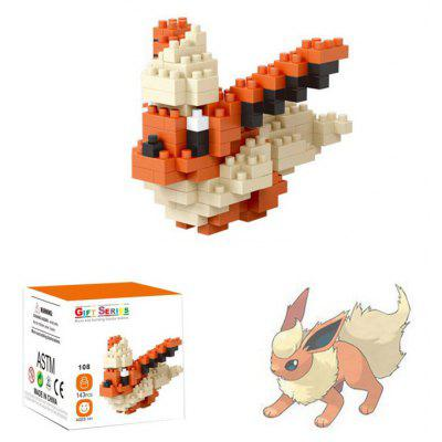 143pcs LOZ Figure Style Cartoon ABS Building Brick