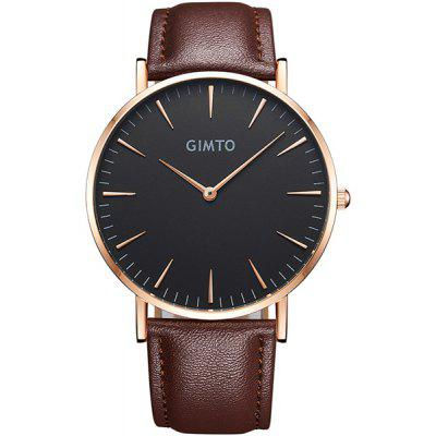 GIMTO Faux Leather Analog Quartz Wrist Watch