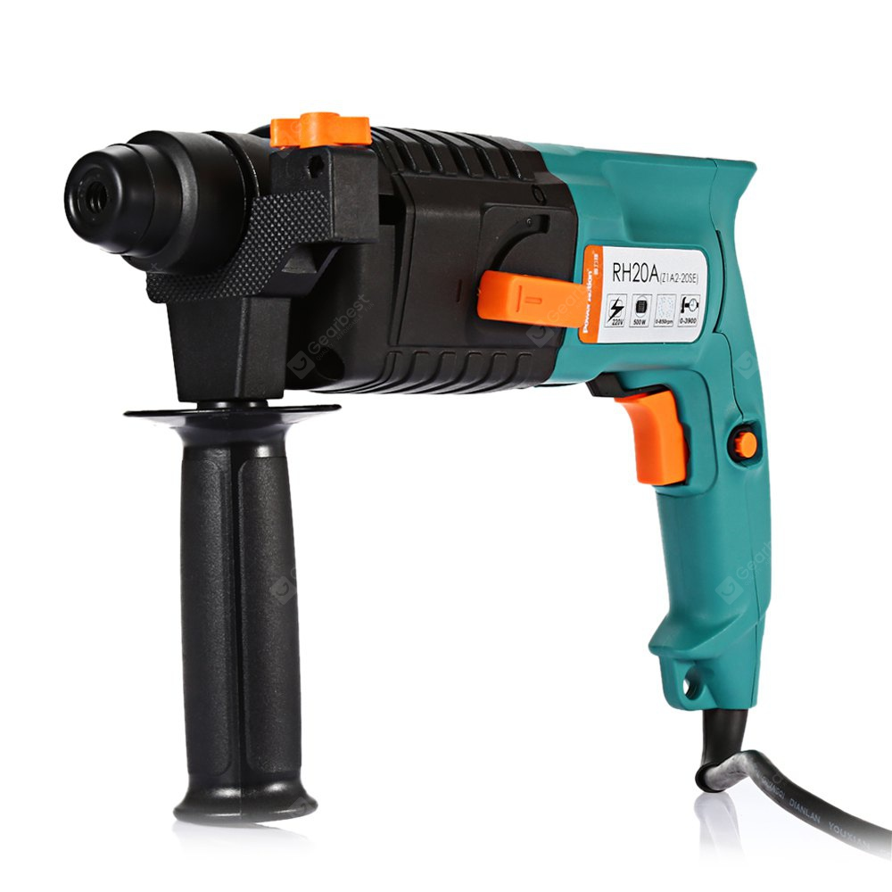 POWERACTION RH20A Portable 500W SDS-plus Rotary Hammer