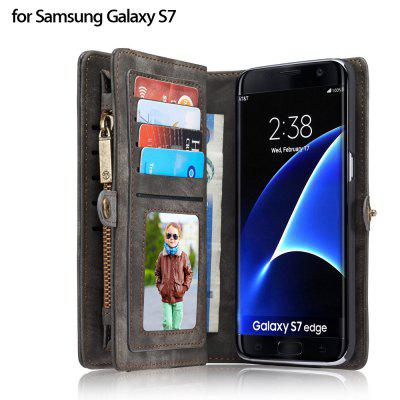 CaseMe Wallet Phone Cover Case for Samsung Galaxy S7 Edge