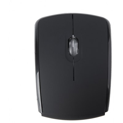 E05 Arc Shape Foldable 2.4GHz Wireless Mouse with 1600DPI USB Snap - in Receiver for Laptop Notebook