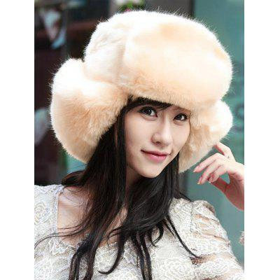 Women Winter Faux Fur Hat with Earmuffs